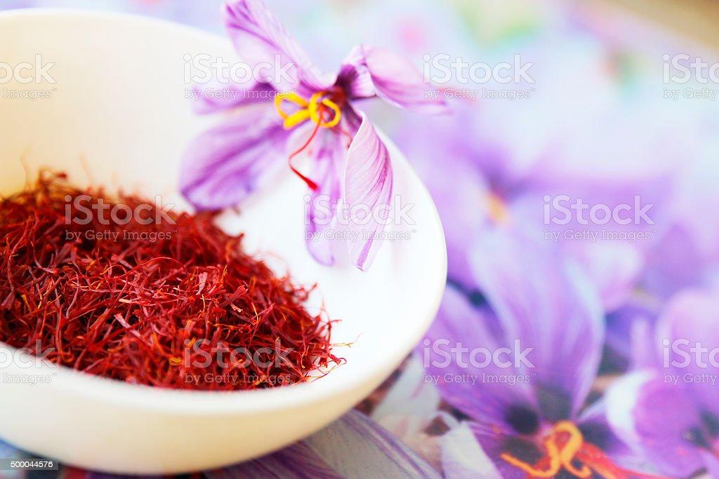 Commercial Saffron stock photo