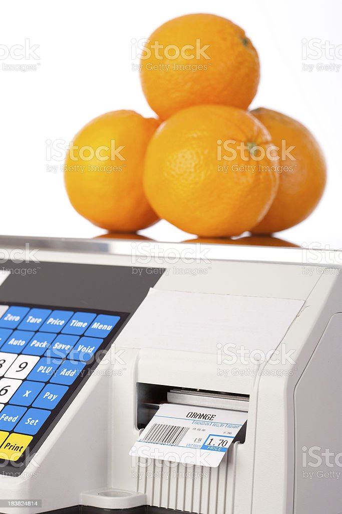 Commercial Scale royalty-free stock photo