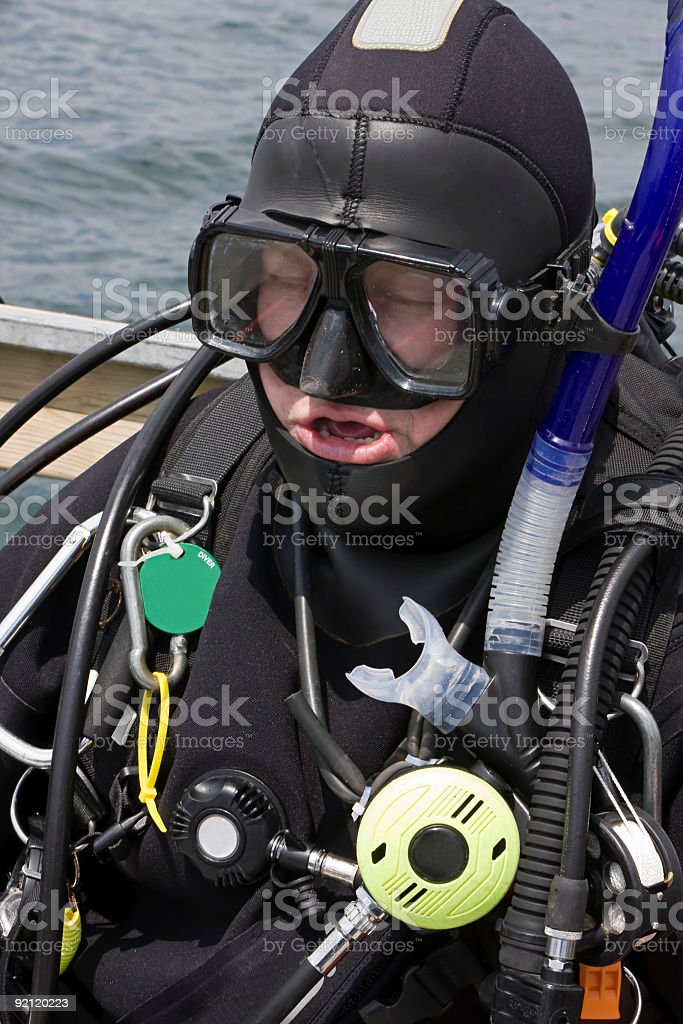 Commercial Scuba Diver royalty-free stock photo