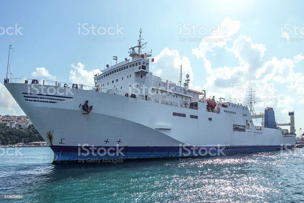 Commercial Ship stock photo