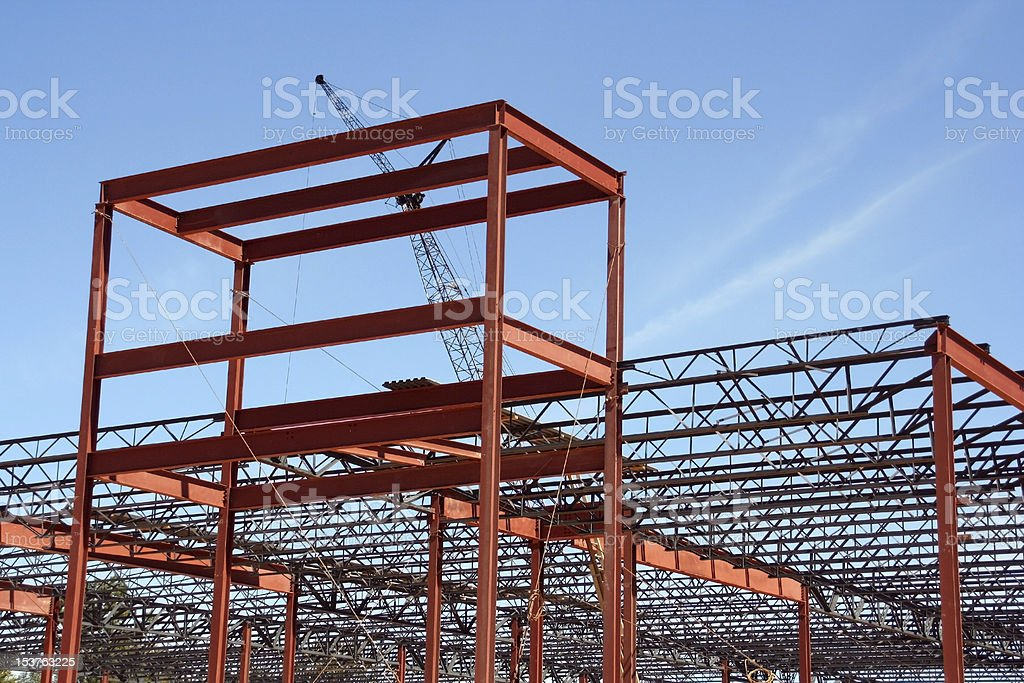 Commercial shopping center construction site royalty-free stock photo