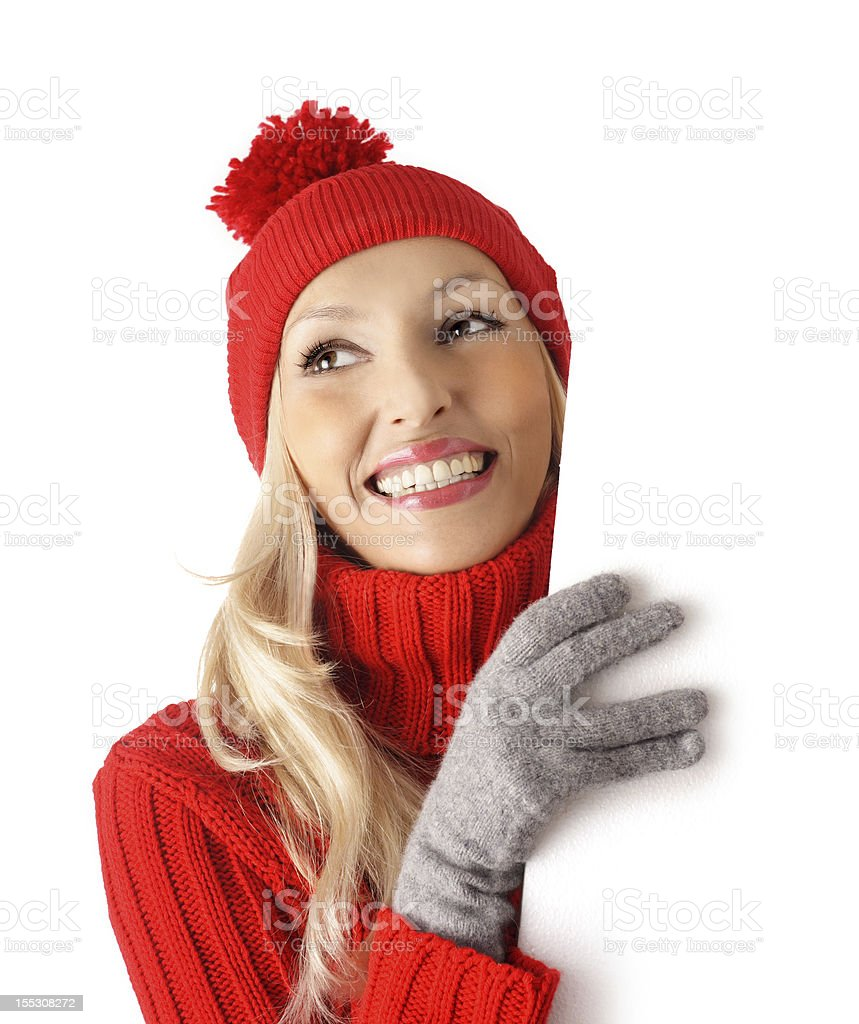 commercial sign - winter royalty-free stock photo