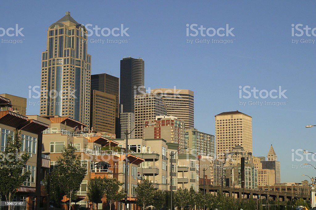 commercial skyline royalty-free stock photo