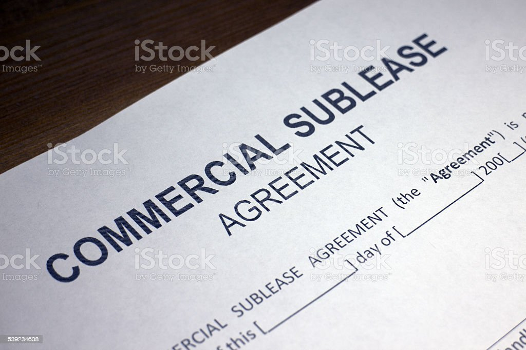Commercial Sublease Legal Document royalty-free stock photo