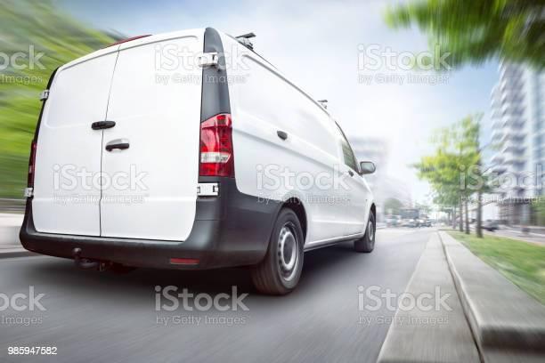 Commercial van driving in the city picture id985947582?b=1&k=6&m=985947582&s=612x612&h=fzgoygzflytqltqtolxrw8w3i4jzsy8fpc x4ygfo0w=