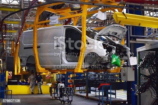 657996382 istock photo Commercial vehicles factory 576607108