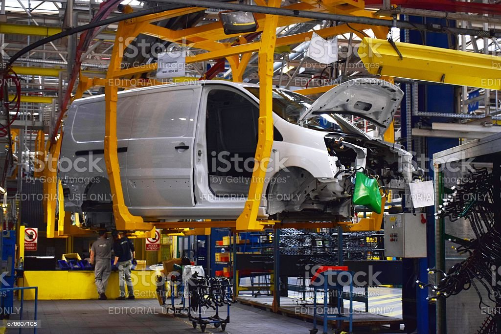 Commercial vehicles factory stock photo