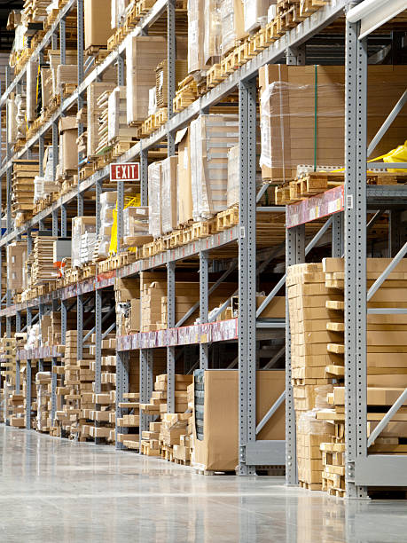 Commercial Warehouse / Distribution Center Of Retail Business stock photo