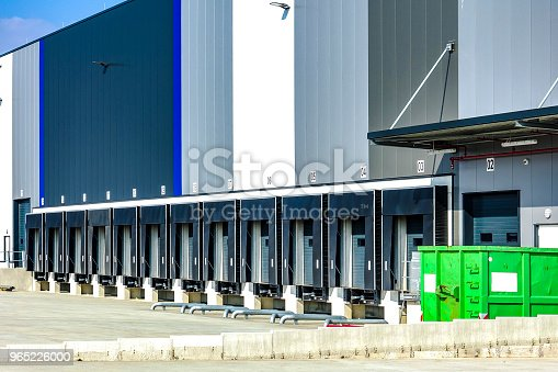 Commercial Warehouse With Multiple Loading Bays Stock Photo & More Pictures of Architecture