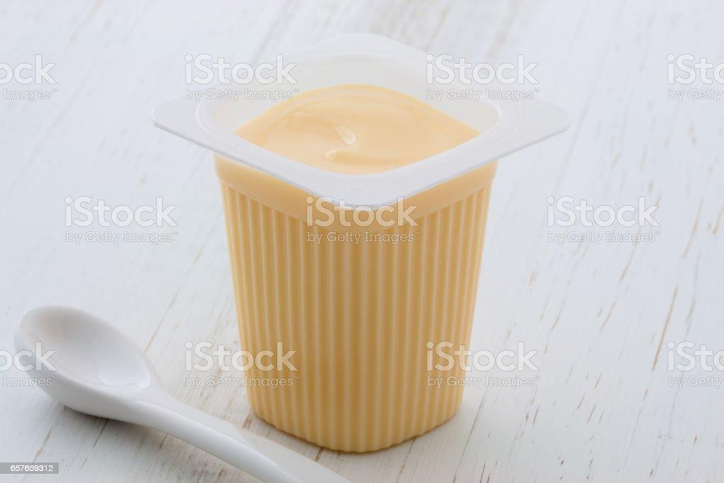 commercial yogurt stock photo
