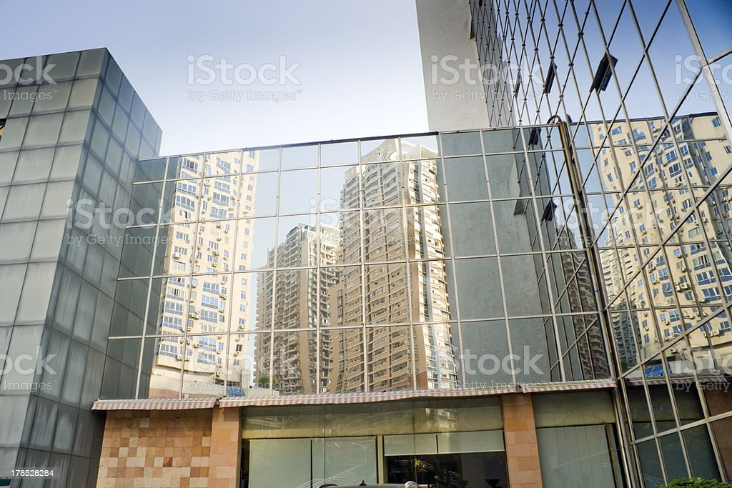 Commerical building with glass wall royalty-free stock photo