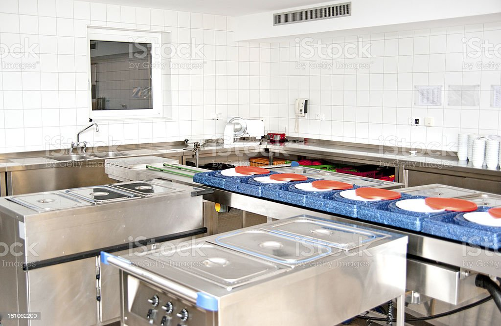 commericial kitchen stock photo