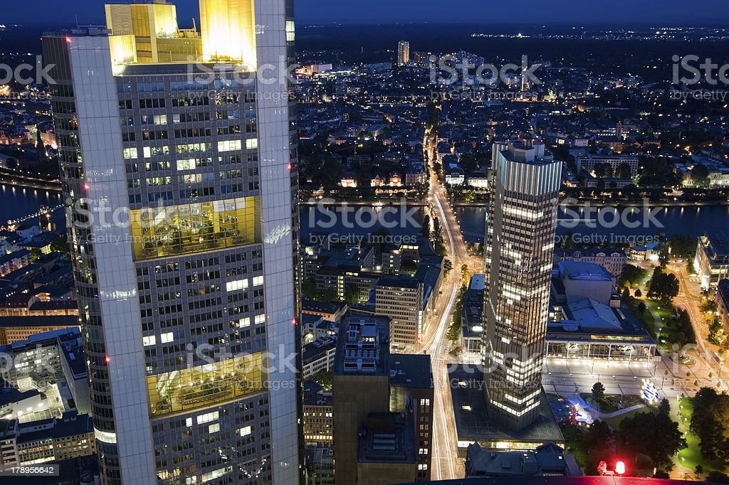Commerzbank and European Central Bank royalty-free stock photo