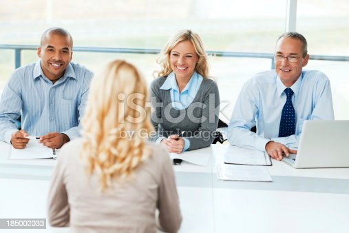 istock Commission having a Job interview. 185002033