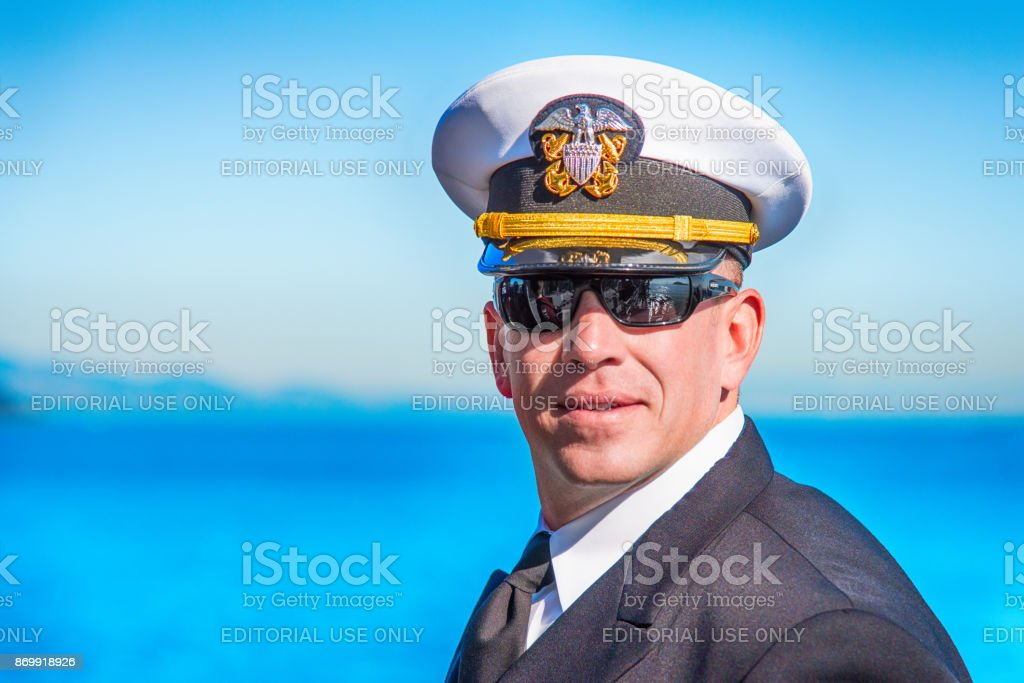 Commissioned Naval Officer During Fleet Week stock photo