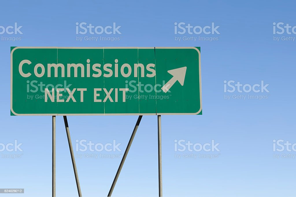 Commissions - Next Exit Road stock photo