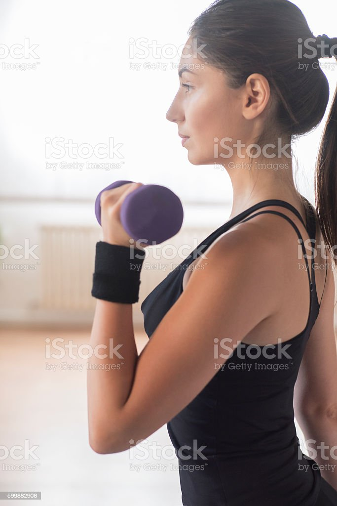 Committed to workout stock photo