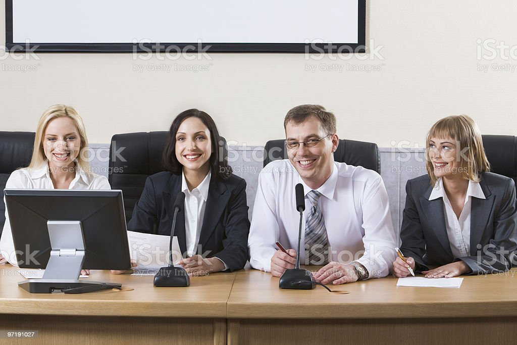 Committee royalty-free stock photo