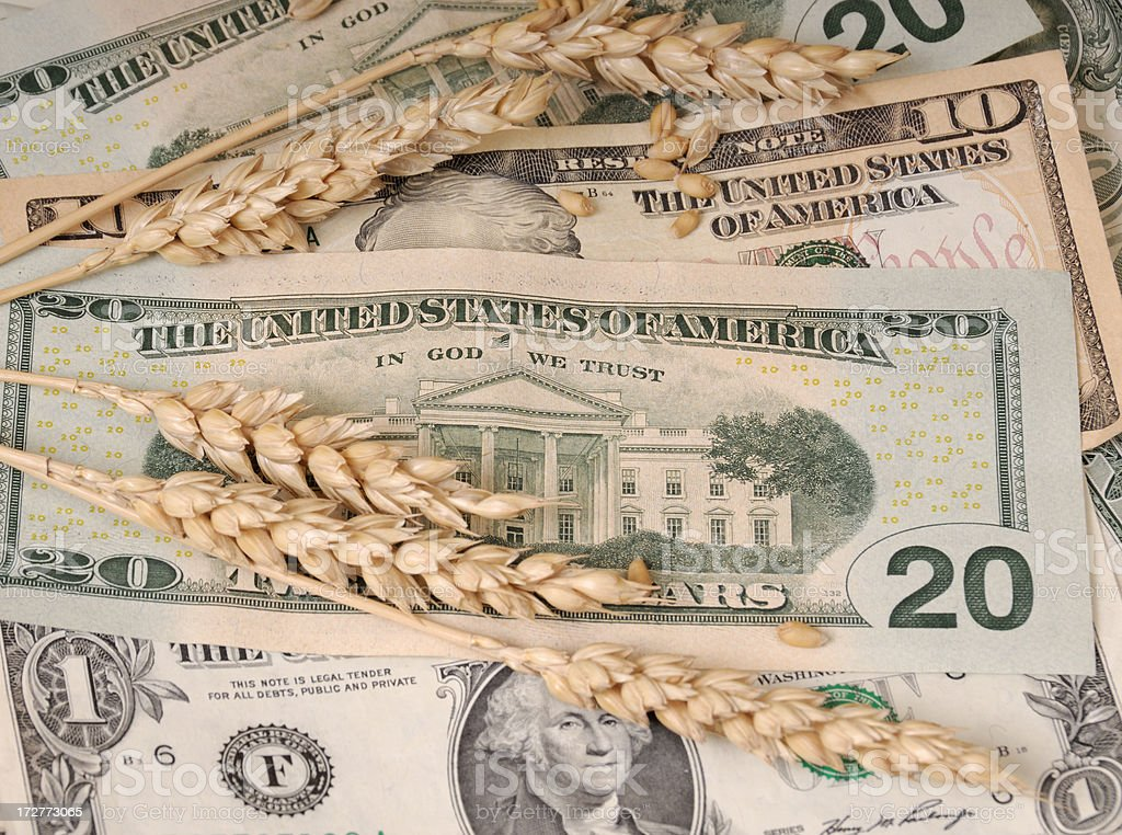 Commodity prices -wheat royalty-free stock photo