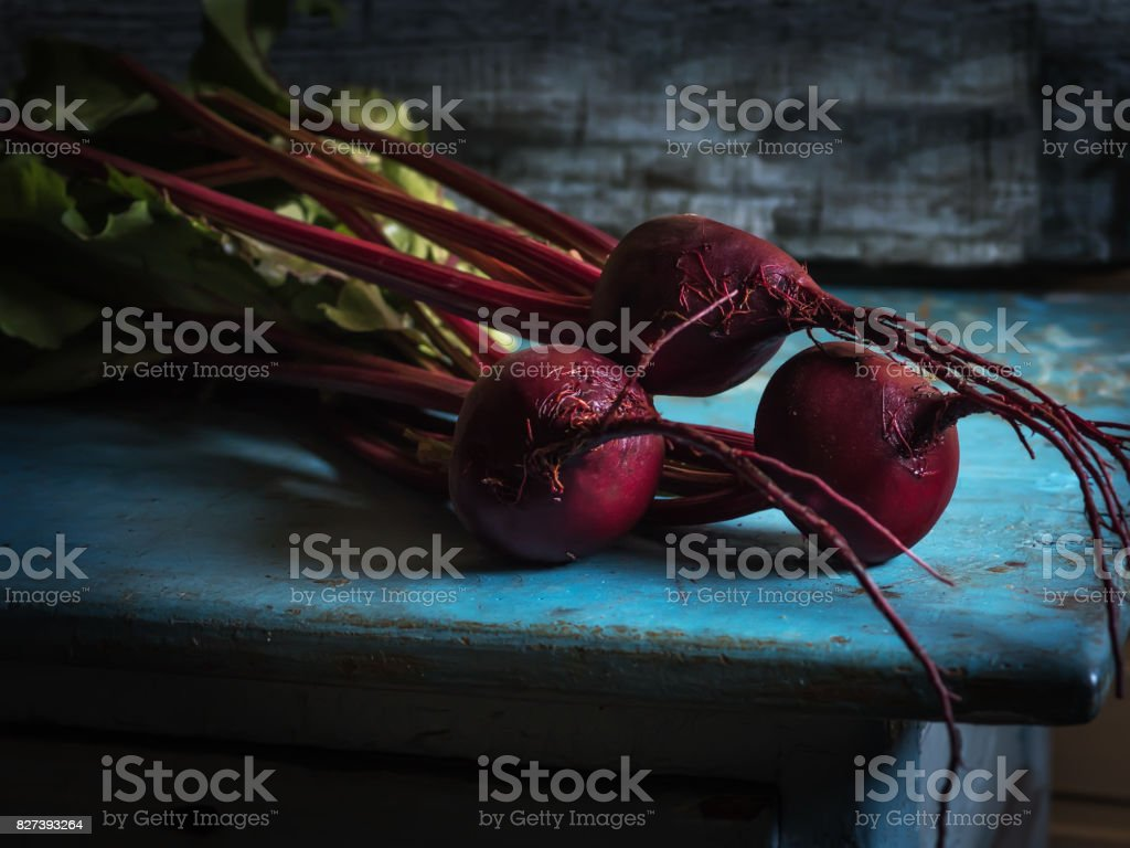 Common Beet Organic Detox Vegetable Close Up stock photo