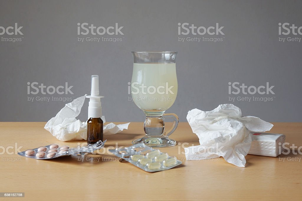common cold or flu remedy stock photo