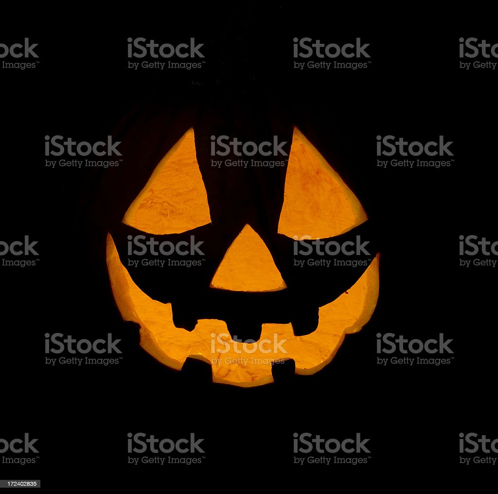 Common Jack O Lantern Face royalty-free stock photo
