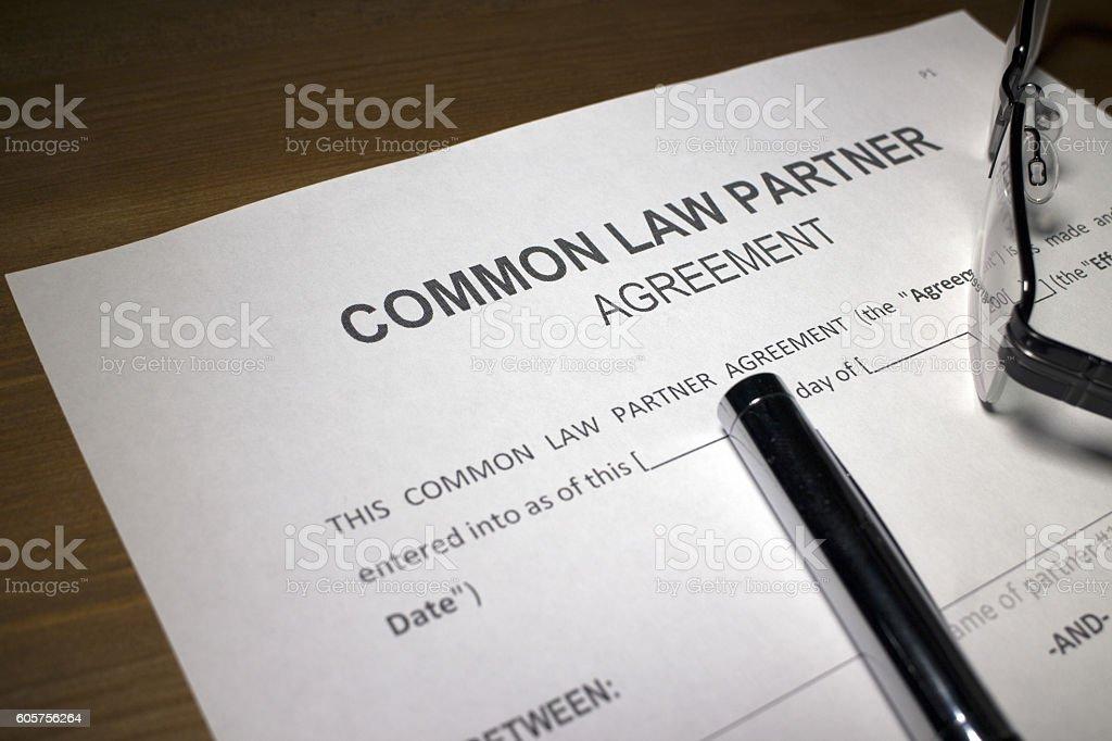 Common Law Agreement stock photo
