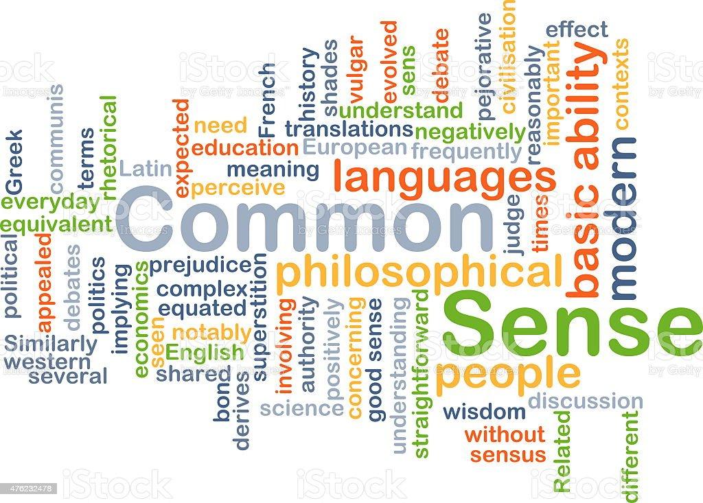 Common sense background concept stock photo