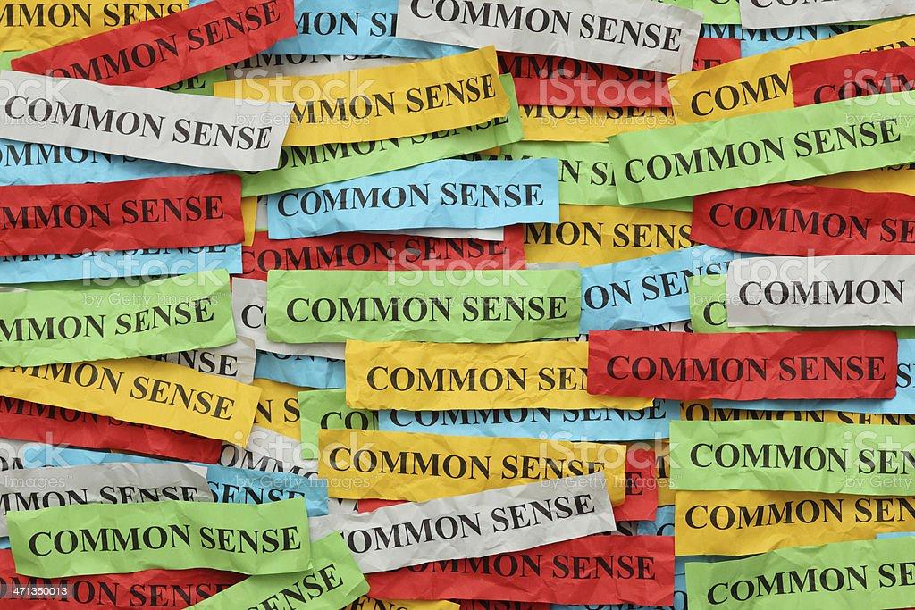 Common Sense royalty-free stock photo