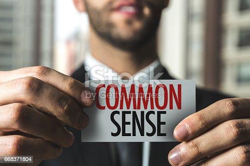 Common Sense sign card