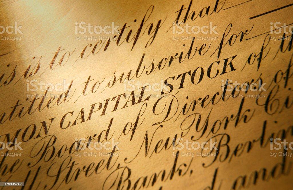 Common Stock royalty-free stock photo