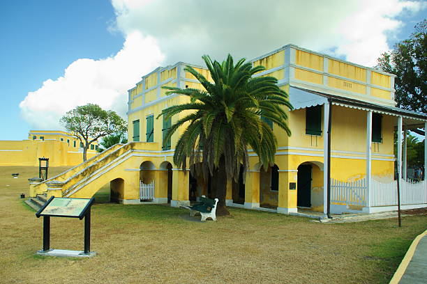 Commons House Fort Christiansted stock photo