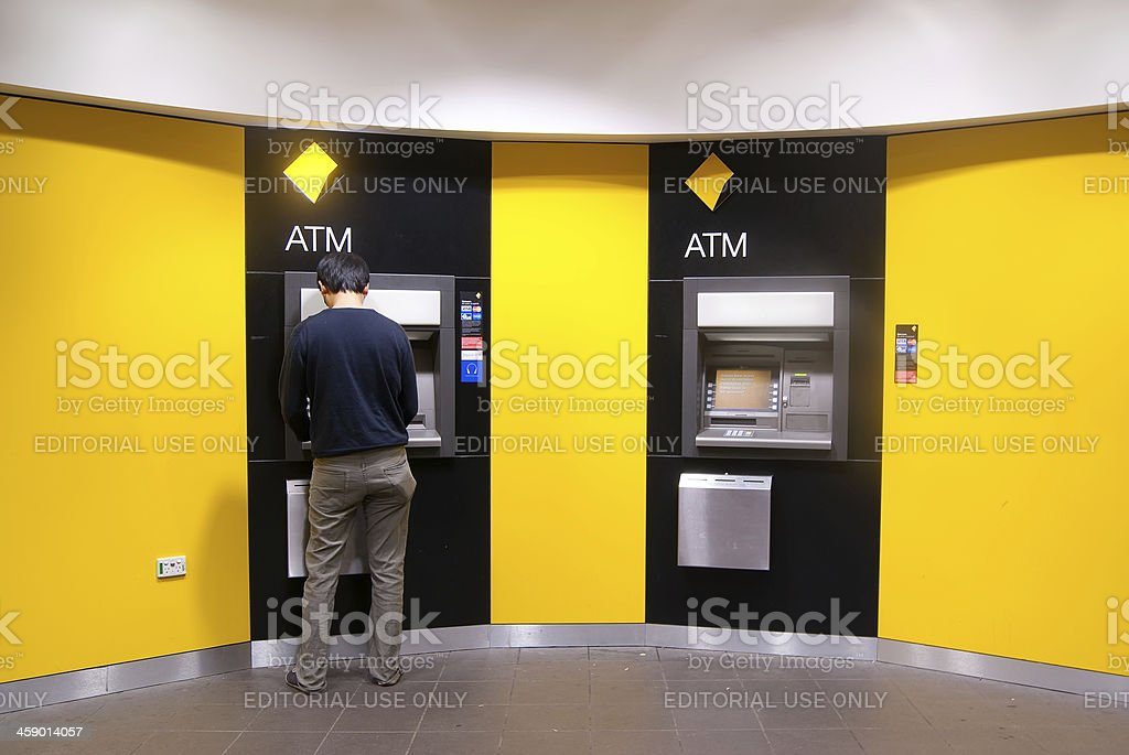 Commonwealth Bank ATMs stock photo