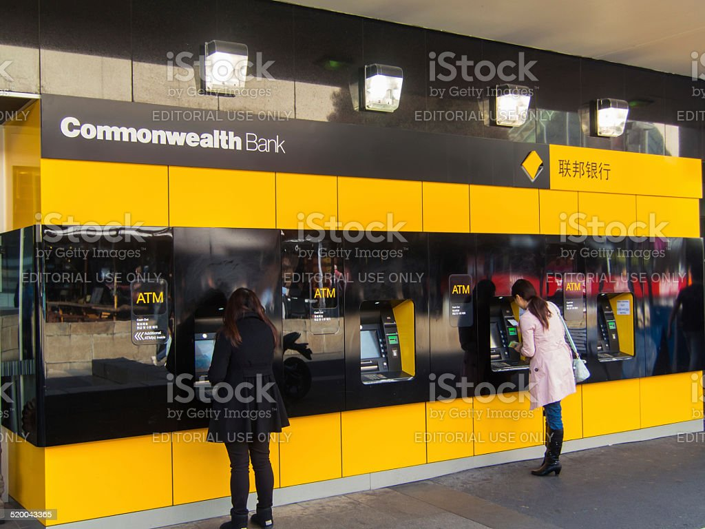 Commonwealth Bank branch stock photo