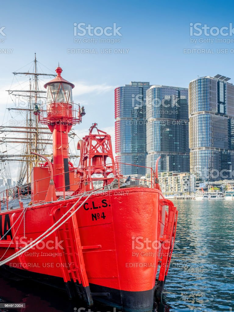 Commonwealth Lightship 4 (CLS4) Carpentaria royalty-free stock photo