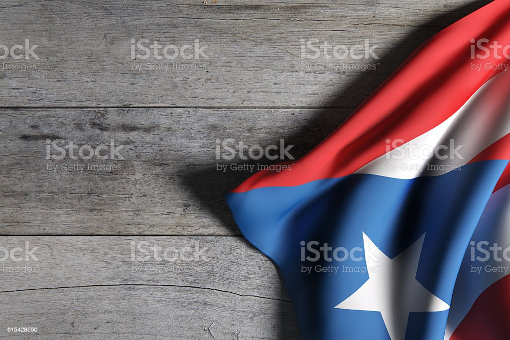 Commonwealth of Puerto Rico flag waving - foto de stock
