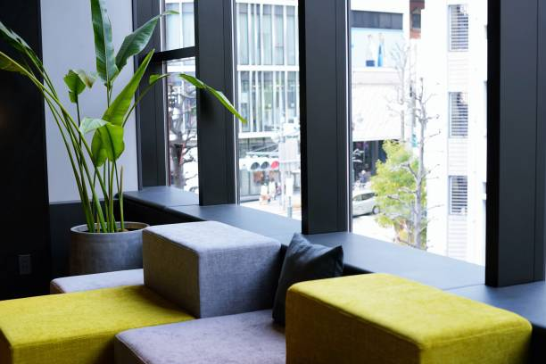 Communal lounge stock photo