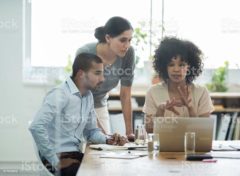 Communicating every detail stock photo