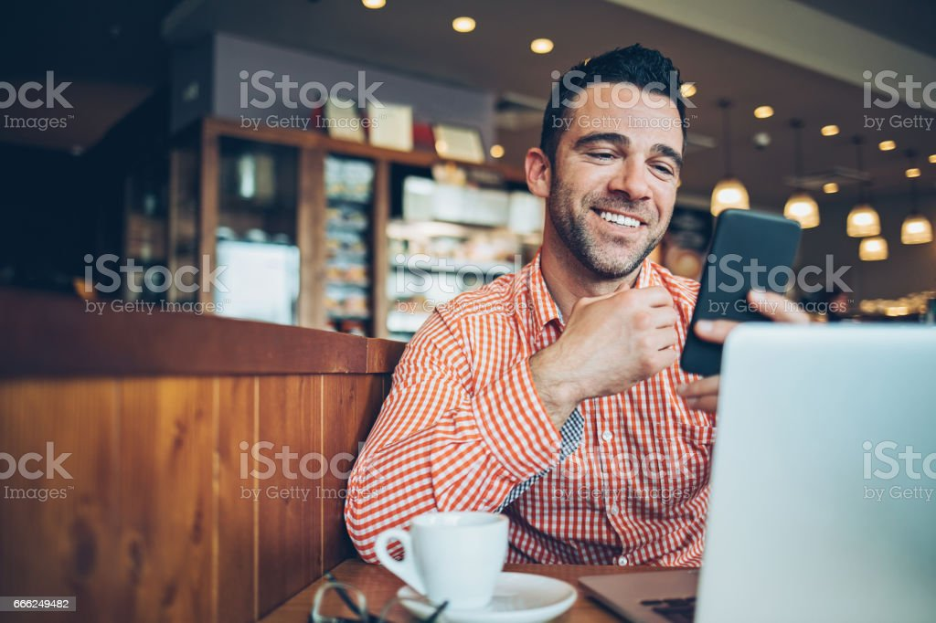 Communicating in comfort and style stock photo