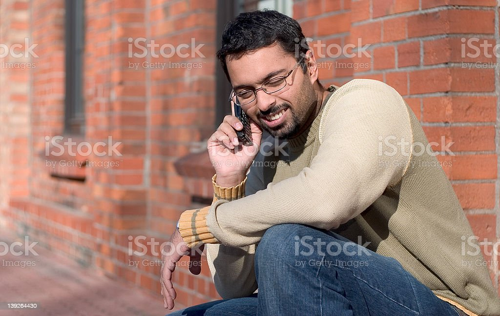 Communicating royalty-free stock photo
