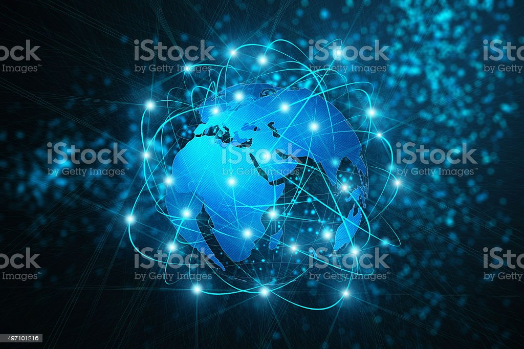 Communication abstract background stock photo
