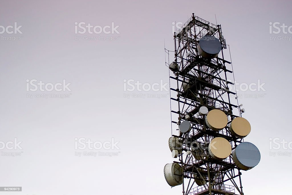 Communication aerial royalty-free stock photo