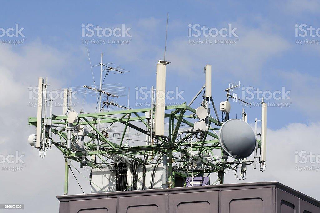 Communication Aerials royalty-free stock photo