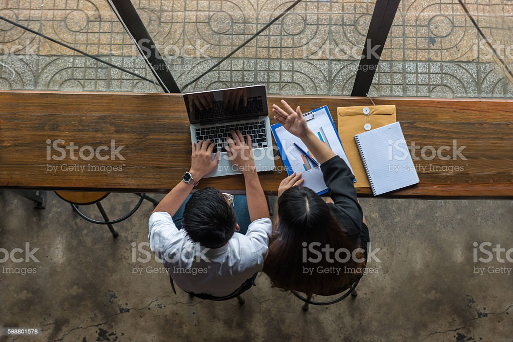 Communication and interaction is important for working and business stock photo