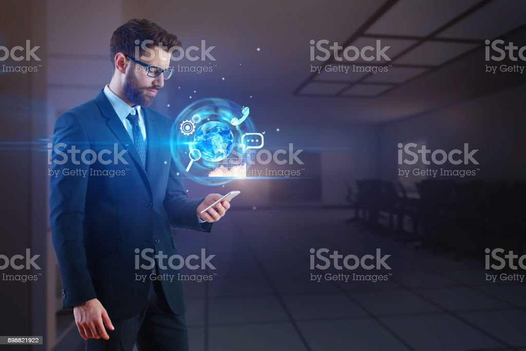 Communication and network concept stock photo