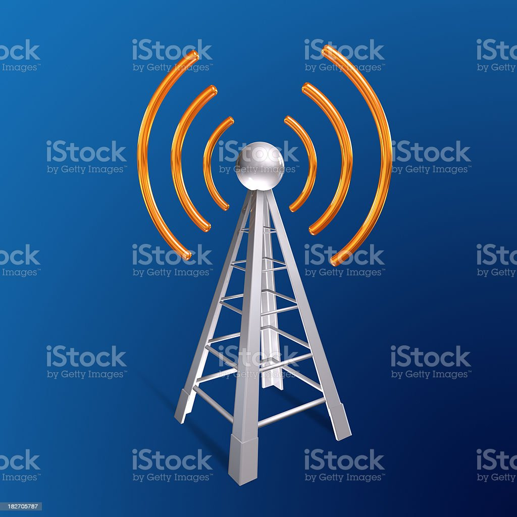 Communication antenna royalty-free stock photo