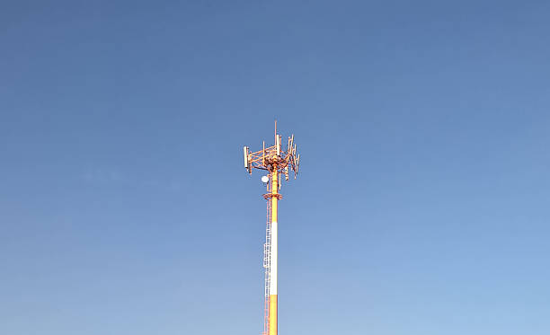 Communication antenna stock photo