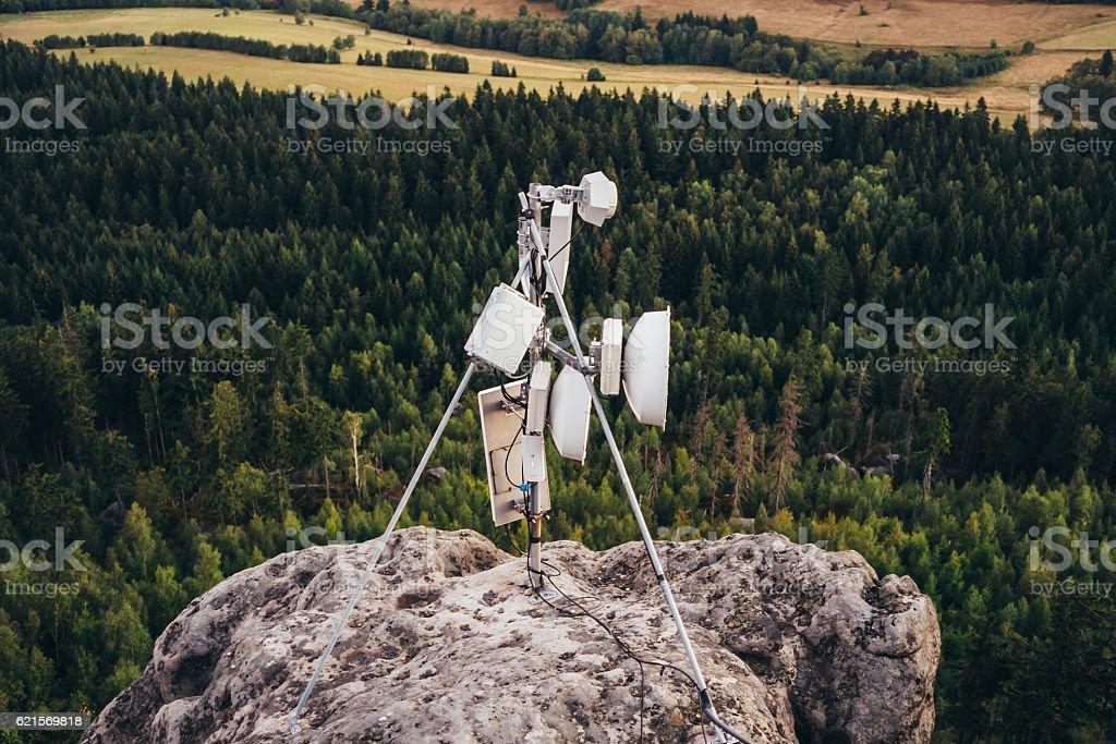 Kommunikation Fühler Lizenzfreies stock-foto