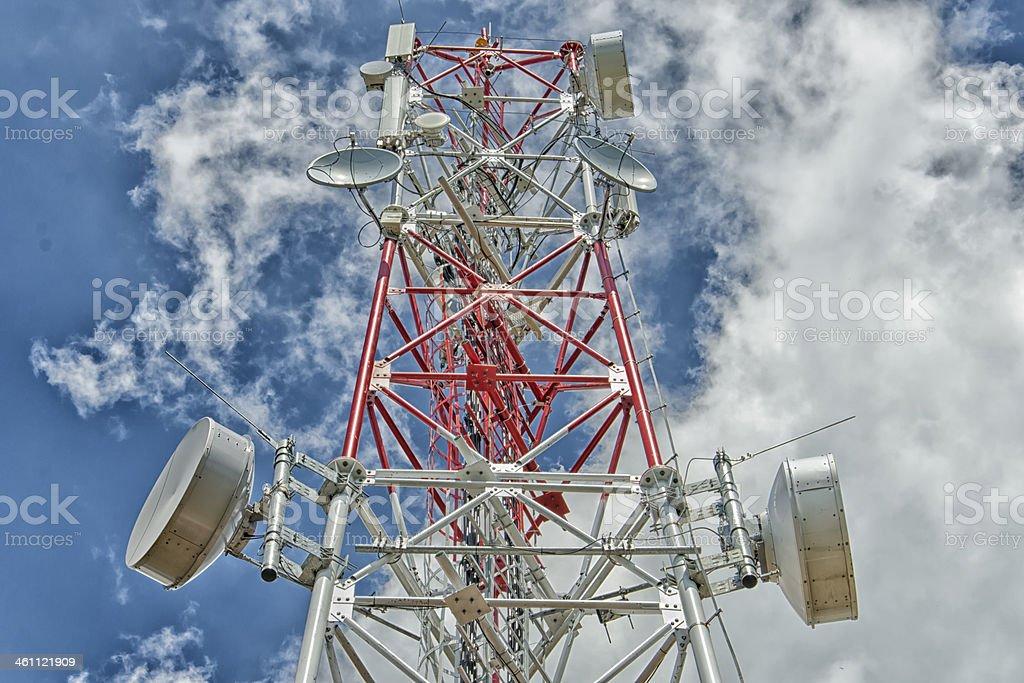 Communication Antenna Tower stock photo