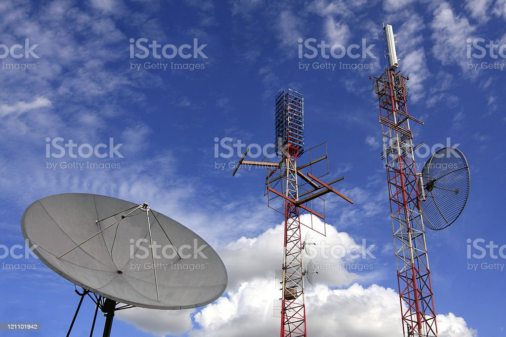 Communication antennas royalty-free stock photo